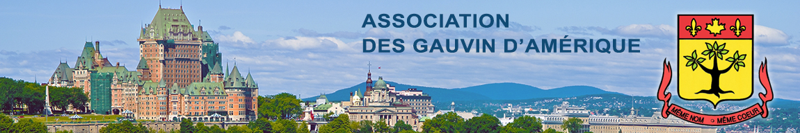 Site officiel de l'Association des Gauvin d'Amérique Logo