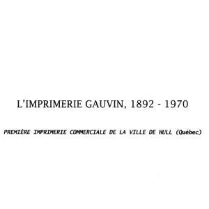 Imprimerie-Gauvin